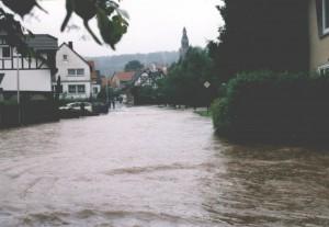 Hochwasser Brunnenstraße 06.2001