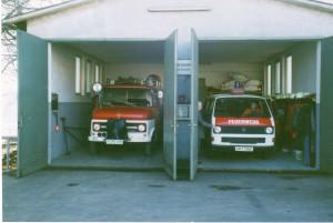LF 8 und MTW, 1989, Feuerwehrhaus Kasseler Straße