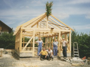Bau Schuppen 1996