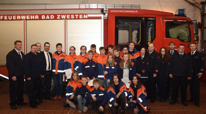 Jugendfeuerwehr Bad Zwesten Kerngemeinde mit stabilen Mitgliederzahlen