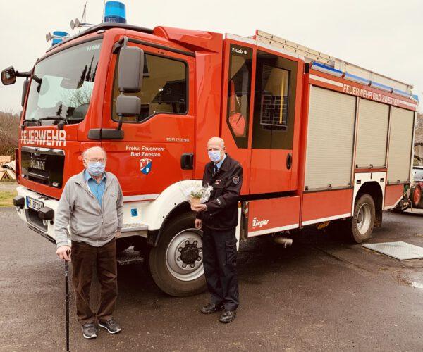 Feuerwehr gratulierte Ehrenmitglied Kurt Martin zum 90. Geburtstag